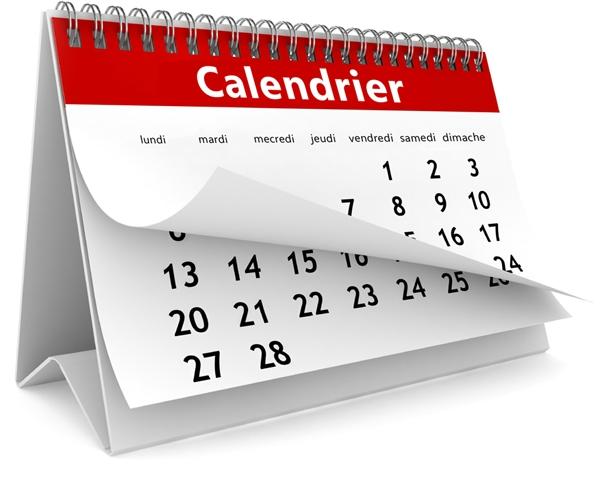 Le calendrier dévoilé !